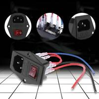 3D Printer U-type Plug  Power Supply Switch Adapter Socket Module With Fuse Kit