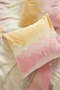 Anthropologie 💖 Woven Calera 💖 two euro shams PINK NWT actual pic 👀