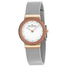 Skagen Women's Quartz (Battery) Silver Case Wristwatches