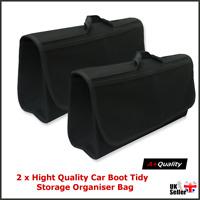 2x BOOT ORGANISER LARGE CAR VEHICLE CARPET STORAGE BAG TOOLS BOOT TIDY VELCRO