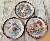 Lena Liu's Flower Fairies Collection 3 PLATES Bradex Decorated by 22-Karat Gold