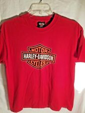 Harley Davidson Men's Red Short Sleeve T-Shirt Crew Neck Sz Large ADAMEC Jax FL