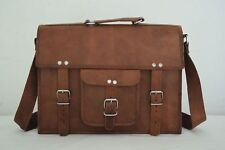"Leather Briefcase Messenger Bag 13"" MacBook Satchel CrossBody Shoulder Bag"