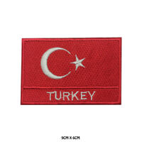 Turkey National Flag Embroidered Patch Iron on Sew On Badge