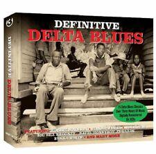 DEFINITIVE DELTA BLUES 3 CD BOX SET ROBERT JOHNSON ELMORE JAMES SON HOUSE  +MORE