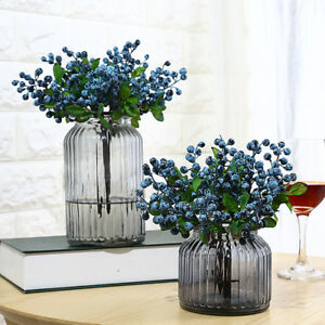 Artificial Blueberries Fake Mini Berries Fruit Plants Wedding Home Decor 34UK