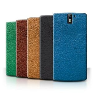 STUFF4 Phone Case/Back Cover for OnePlus One /Leather Patch Effect