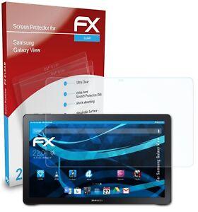 atFoliX 2x Pellicola Protettiva per Samsung Galaxy View chiaro