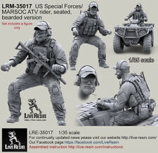 Live Resin 1/35 LRM-35017 US Special Forces/MARSOC ATV Rider, Seated, Bearded