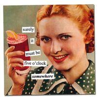 New Anne Taintor 40 Retro Fun Humor Paper napkins gift - 5 O'CLOCK SOMEWHERE