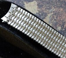 Accented link NSA band steel 18mm curved ends NOS Swiss NSA bracelet 1960s/70s