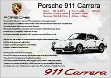 Porsche 911 Carrera Info Spec Picture - A4 Clip Frame
