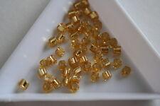 Silver lined light topaz toho carré perles. 150 perles. #7277