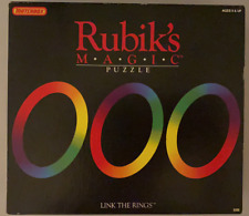 Rubik's Magic Puzzle Link The Rings Matchbox 1986 Folding 8308