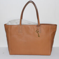 Classic FOSSIL Leather Brown Camel Beige handbag tote purse