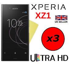 3x HQ ULTRA TRANSPARENTES HD protectores películas protectoras de pantalla para Sony Xperia XZ1