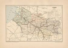 C9078 France - SOMME - Cartina geografica antica - 1892 antique map