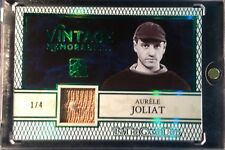 2017 Leaf ITG Used Aurele Joliat Vintage Memorabilia Green Canadiens SSP 1/4