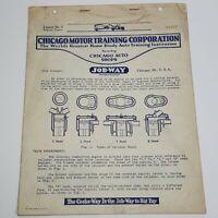 Chicago Motor Training Corporation Lesson 3 Engine Types