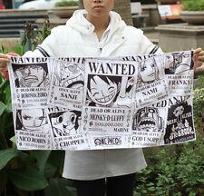 16''x32'' One Piece Wanted Poster New World Towel Luffy Zoro Usopp Sanji Cotton