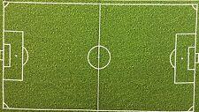 PNL104 Soccer Field Green Grass Turf  Sports Cotton Fabric Quilt Fabric Panel