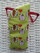 LOVE GUINEA PIGS GLASSES CASE PADDED & LINED VISION CASES GIFT UNIQUE CUTE NEW