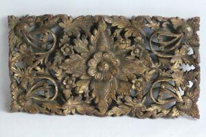 Très ancien bois sculpté doré Asie (52223)