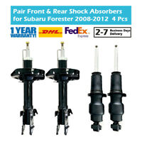 4PCS Front and Rear Gas Shock Absorbers Fit Subaru Forester SH5 SH9 EJ204 FA20