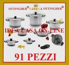 BATTERIA PENTOLE BAVARIA 91 Pz. L'ORIGINALE INOX 18/10
