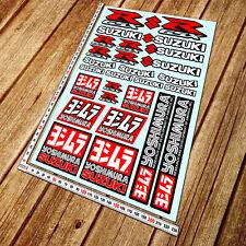 Suzuki GSXR sticker set 29 decals gsx-r 600 1000 yoshimura k5 k7 L1