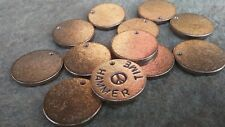 50pc, Metal Stamping Blanks, 22mm x 2mm, Bronze full Washers, Made In USA