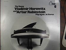 THE YOUNG VLADIMIR HOROWITZ & ARTHUR RUBENSTEIN 33 RPM EX  111115 TLJ