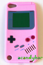 iPod Touch 5 5th Baby Pink Nintendo Gameboy Silicone Rubber Soft Skin Cover Case