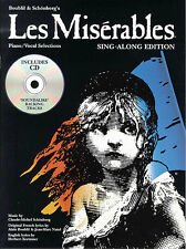 Les Miserables Vocal Selections Learn to SING Play PIANO Guitar PVG Music Book