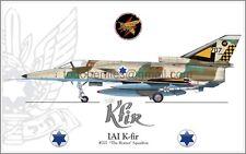 "IAI K-fir #707  ""The Hornet"" Squadron IAF Israel Air Force - Poster Profile"