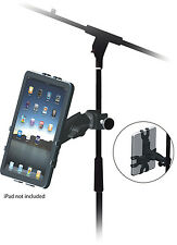 Black Apple iPad 1 2 3 & Tablet Up Right Music Microphone Stand Adaptor Holder