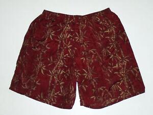 "PATAGONIA 8"" Swim Suit Trunks RED Hawaiian LINED Vtg Baggies Shorts Mens NEW Lg"