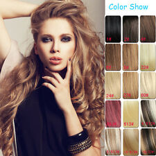 Full Head Set 100% Human Hair Clip In Extensions Remy Hair AAA Quality 7pcs 15""