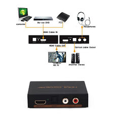 1080P HDMI to HDMI Optical + SPDIF + RCA L/R Extractor Converter Audio Splitter