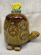 Vintage Retro Timmy Turtle Tortoise Cookie Jar McCoy - 1980's - Brown 10.5�tall