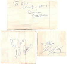 10cc signed autograph album pages 1970s English band Graham Gouldman Mindbenders