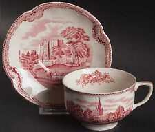 JOHNSON BROTHERS OLD BRITAIN CASTLES DINNERWARE FOOTED CUP & SAUCER SET