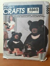 McCalls Crafts pattern 8865 Brooke Shield's Stuffed Moon plush bear toy uncut