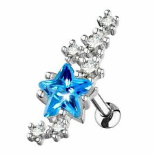 Turquoise and Cluster Piercing Cartilage Star