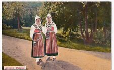 Sweden; Leksand, Dalarne, Women in Traditional Dress, PPC, Unposted, c 1950's