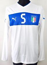 ITALY Long Sleeve #5 Away Shirt Adult Large Men 2012 EURO Jersey Trikot Maglia L