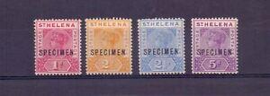 ST HELENA 1896 QV SPECIMENS 1d, 2d, 2½d, 5d SG47s/49-51s MH