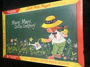 Rare NOS Tuco Little Folks Puzzle Mary Mary Quite Contrary Sealed