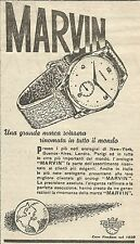 W6783 Orologio svizzero MARVIN - Pubblicità 1949 - Advertising