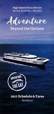 Nova Scotia - Maine High Speed CAT Ferry Schedules 2017 =
